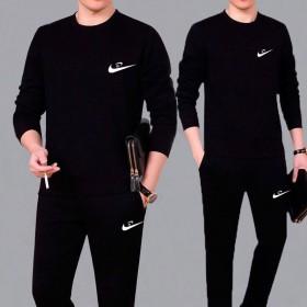 套装男新春秋款两件套大码休闲男士运动服套装中年长袖