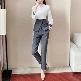 2020年新款套装裤子休闲时尚韩版修身两件套女秋装