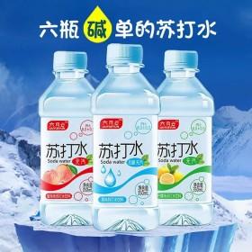 350ml6瓶装苏打水无汽无糖柠檬味蜜桃味水饮料