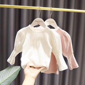 女宝宝设计感打底衫女婴儿童2020秋装韩版新款女童
