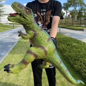 超大号仿真软胶恐龙玩具发声霸王龙三角龙动物模型男孩
