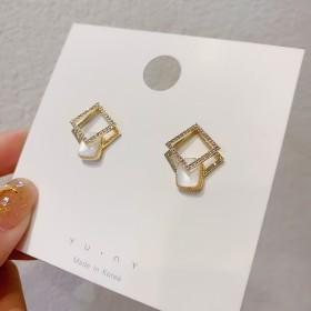 【品质款】S925银针方形贝壳耳坠