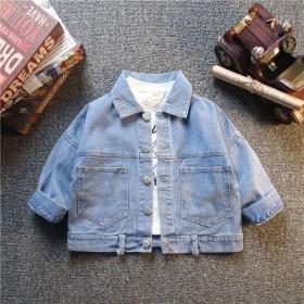 男女童牛仔外套春秋新款童装儿童上衣洋气宝宝韩版夹克