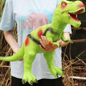 大号仿真软胶恐龙男孩儿玩具发声霸王龙三角龙动物模型