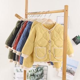 童装秋冬儿童套装加厚男童棉服套装女宝宝冬装两件套