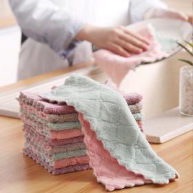 洗碗布双面擦锅洗碗巾厨房不掉毛抹布百洁布