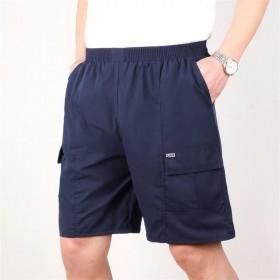 夏季中老年短裤男爸爸装薄款中年男士棉裤沙滩五分裤