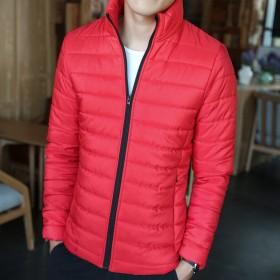 男士外套保暖修身冬装冬季加厚棉衣棉服拉链立领棉袄子