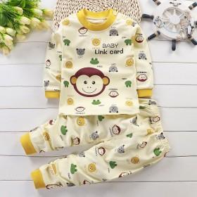 0-8岁男童女童睡衣婴儿衣服春秋儿童内衣套装纯棉