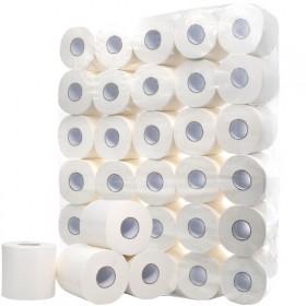 卫生纸5.4斤30卷木浆空心卷纸厕所卷筒纸有芯