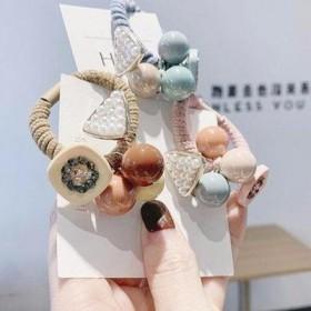 韩国小清新简约个性马尾扎头发橡皮筋发圈发绳女头饰