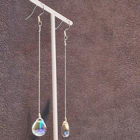纯手工琉璃耳坠简约百搭古风耳环超仙女饰品S925银