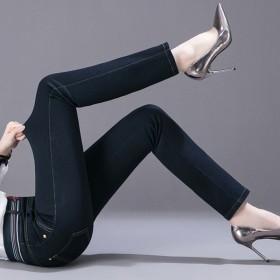 牛仔裤女2020秋冬新款流行松紧舒适高腰热卖弹力