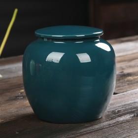 陶瓷茶叶罐便携式防潮家用送礼密封罐大号茶叶包装盒储