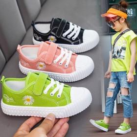 小雏菊儿童帆布鞋韩版男童鞋子休闲女童板鞋宝宝潮百搭