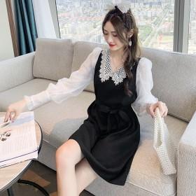 2020年新款连衣裙秋款气质名媛小个子时尚长袖娃娃