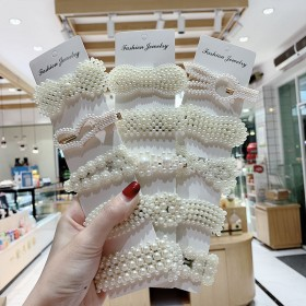 韩国ins珍珠发夹网红爆款简约发夹女学生女成人发夹