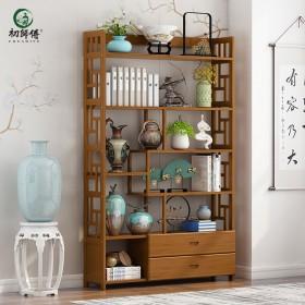 博古架实木中式书架置物架古董架多宝阁茶叶架茶具柜
