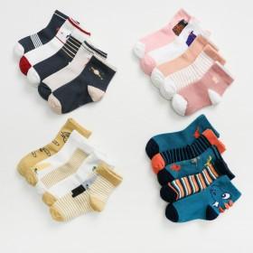 【五双装】秋款韩版童袜 中筒保暖宝宝袜儿童袜子