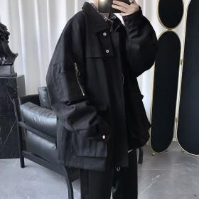 秋冬新款工装夹克韩版宽松休闲多口袋百搭外套