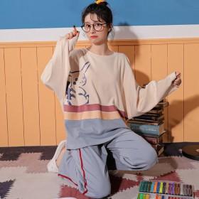 长袖睡衣女秋季套装