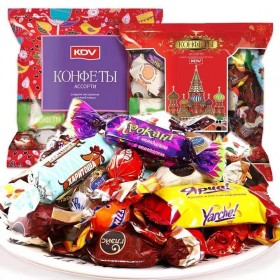 500g  俄罗斯进口混合巧克力糖