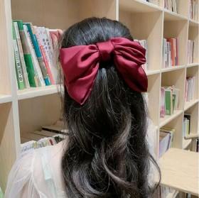 风大蝴蝶结发夹女学生网红气质夹子头饰日系可爱后脑