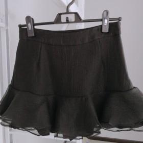 优品网纱黑色百搭裙裤
