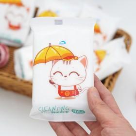 10包100片湿巾婴儿抽取式便携小包湿纸巾十片一次