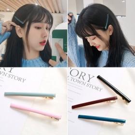 韩国简约风夹子卡子气质少女一字边夹头饰发卡网红夹