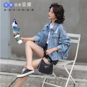 破洞牛仔外套女2020新款韩版显瘦夹克宽松褂子