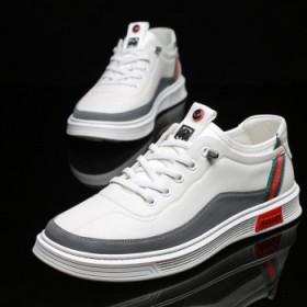 男鞋休闲鞋板鞋低帮夏秋韩版小白鞋软皮软底皮鞋