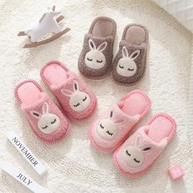 儿童地板拖鞋秋冬季室内家用男女童卡通兔子款