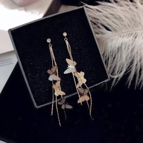 耳环女长款气质新款流苏个性设计感超仙蝴蝶耳饰耳坠