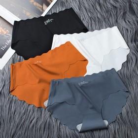 限量3条冰丝无痕内裤女性感纯棉内裤
