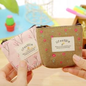 小钱包韩版简约硬币零钱包零钱袋女学生帆布可爱钥匙包
