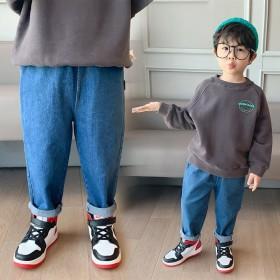 男童牛仔裤秋冬韩版宝宝直筒长裤童装