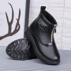 男童儿童鞋马丁靴女童中大童棉鞋2020新款秋冬学生
