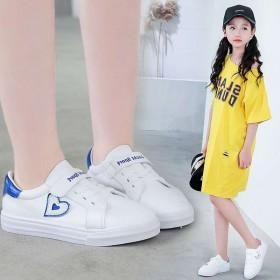 儿童学生防滑白板鞋运动鞋