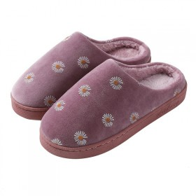 毛绒冬季棉拖鞋防滑保暖耐磨情侣家居可爱棉拖