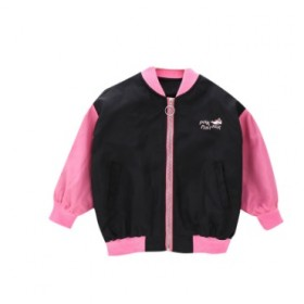 女童外套中大童儿童粉红豹夹克小女孩秋装休闲立领上衣