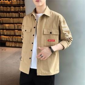 纯棉长袖衬衫男士日系宽松休闲衬衣潮流外套男