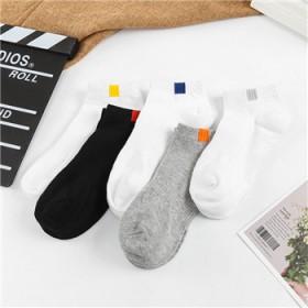 夏季薄款男袜百搭布标船袜透气舒适浅口袜袜子