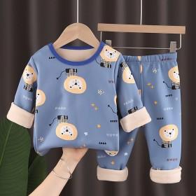 2020新款婴儿衣服秋冬男女秋衣秋裤男儿童长袖保暖