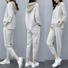 2020新款兰汇美套装女宽松显瘦气质减龄早秋休闲上