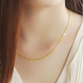 满天星锁骨黄金项链