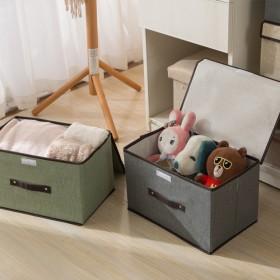 仿麻无纺布收纳盒衣服可折叠家用衣柜便携防尘杂物