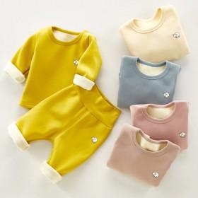 婴儿保暖套装冬装高腰护肚秋冬季 0岁1加厚3男女宝