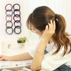 韩国三合一头绳小清新发绳高弹力橡皮筋发圈成人简约扎