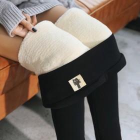 超厚加绒打底裤韩版女裤冬季加绒小脚裤